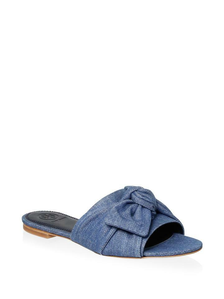 Tory Burch Mujer Annabelle Vaqueros Lazo Desliza Zapatos Pantuflas Planos
