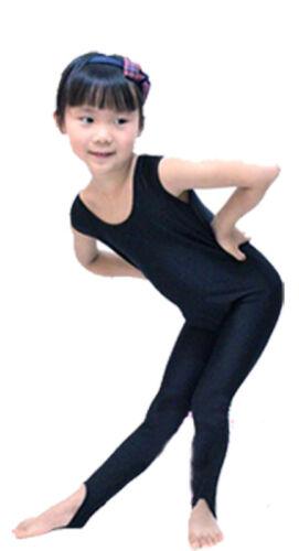 Kids Sleeveless Dance Gymnastics Competition All In One Unitard Leotard Lycra