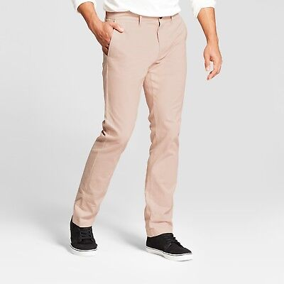 Goodfellow /& Co Straight Fit Hennepin Chino Pants Dusty Red Free shipping
