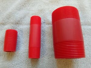1-1-2-034-X-3-034-Red-Kynar-Nipple-PVDF-MNPT-TBE-Kynar-Pipe-Nipple-Sch-80