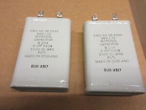 2-0uf-200v-Nitrogel-Paper-In-Oil-Capacitor-Vintage-Audio-Amplifier-AMP