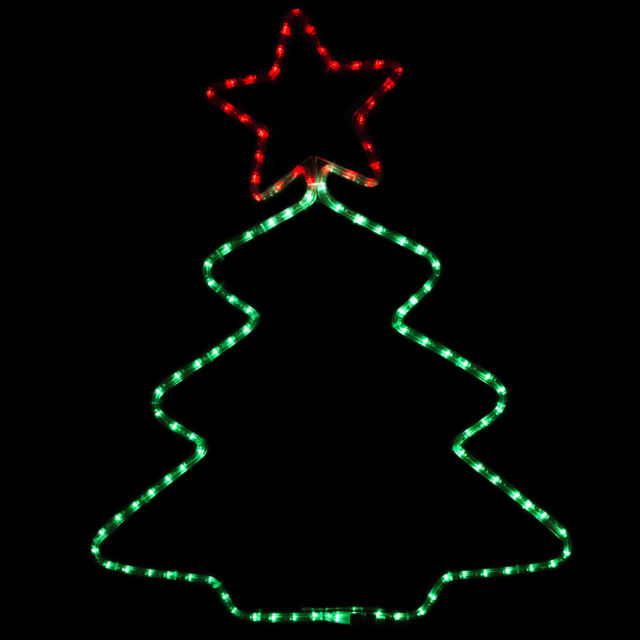 New LED Rope Light In/Outdoor Star Christmas Tree Shape Decorative Party 110V