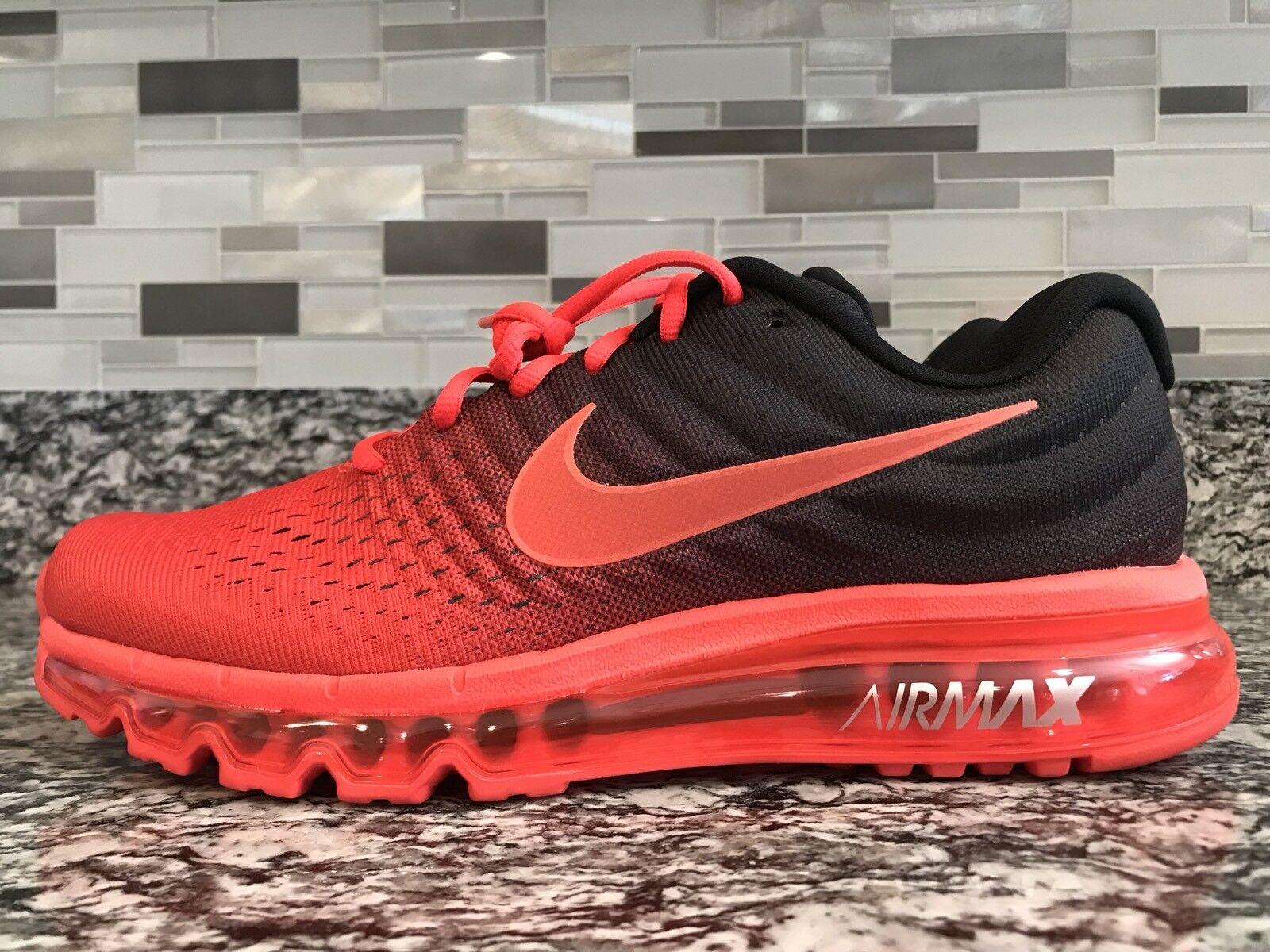Brand New Nike Air Max 2017 Size 6.5 Bright Nero Crimson 849559-600 Uomo