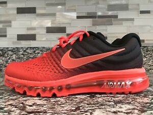 Details about Brand New Nike Air Max 2017 Size 6.5 Bright Black Crimson 849559 600 Men's