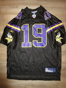 huge selection of 4c26c 30218 Details about Minnesota Vikings #19 Black Retro Edition NFL Reebok Football  Jersey XL mens