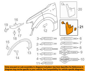 FORD OEM 04-14 F-150-Mud Flap Splash Guard 6L3Z16A550BA | eBay