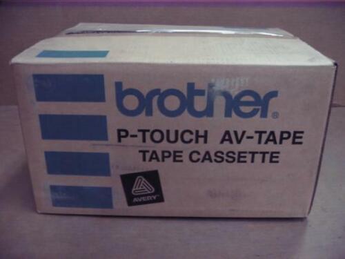 Box of 100 Cassettes Brother Avery AV-1957 P-Touch Tape Cassette AV1957 White