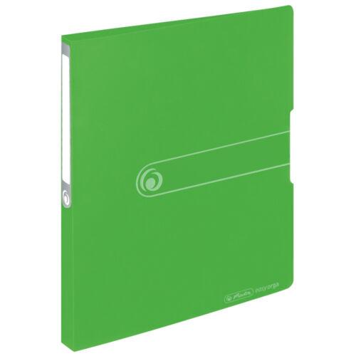 opak apfelgrün DIN A4 aus PP Farbe Herlitz Ringbuch 16mm Füllhöhe