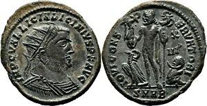 *AET* LICINIUS I Follis. EF+/EF. Heraclea mint. IOVI CONSERVATORI. Radiated Bust