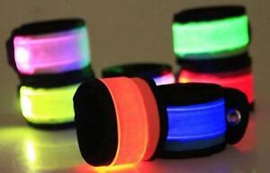 LED SLAP Bracelet Band Night Light Safety for Ankle Arm Running Walking Bike Jog