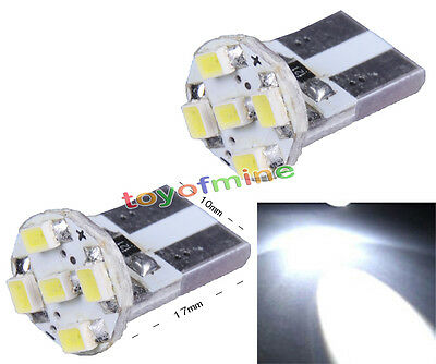 2X T10 Parker 2825 1206 5 LED Pure White Car Wedge SMD Bulb Light Lamp 12V New