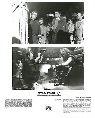 "8X10 PUBLICITY PHOTO PARTIAL CAST OF /""STAR TREK V  THE FINAL FRONTIER/"" WW121"