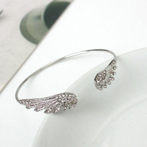 Armband Armreif Silber Flügel Zirkonia Edel Boho Filigran Größenverstellbar