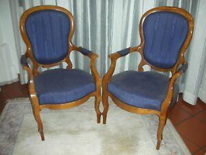 1  aus Sessel Paar Salonsessel  Kirschbaum Biedermeier Louis Philippe elegant
