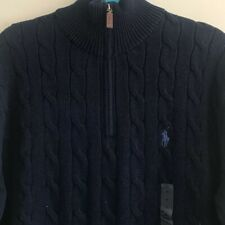 f587986fdb1a8 item 3 BNWT POLO RALPH LAUREN MENS CABLE KNIT HALF ZIP JUMPER SWEATER SIZE  MEDIUM NAVY -BNWT POLO RALPH LAUREN MENS CABLE KNIT HALF ZIP JUMPER SWEATER  SIZE ...