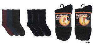 Heatguard Ladies 3 Pack Thermal Socks Black Size 4-7
