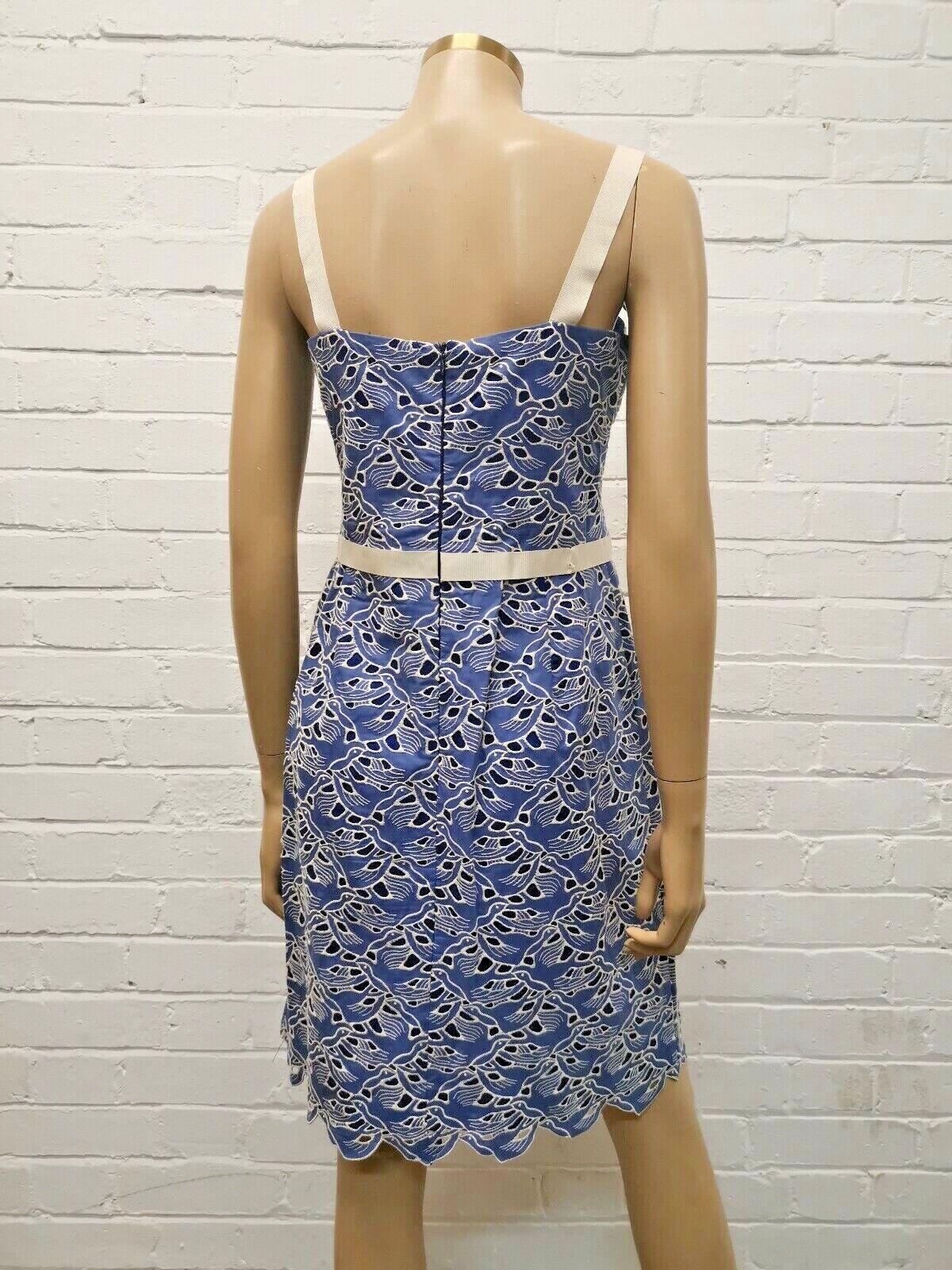 Maiochii Pretty Pastel Pastel Pastel Blau Cotton Day Dress UK 10 f660d4