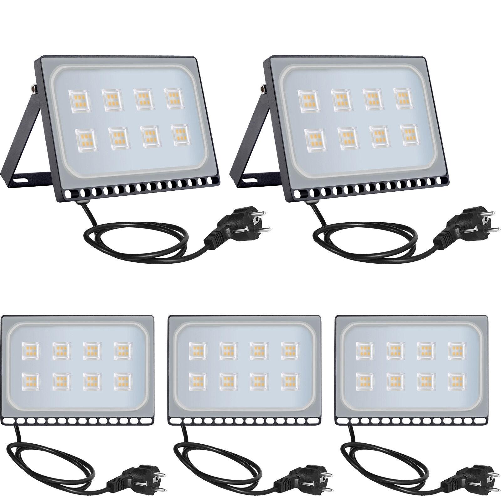 5x 50w LED eh con conector exterior reflector faros blancoo cálido ultra slim