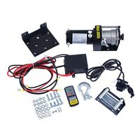 Classic 3000lbs 12v Electric Recovery Winch Truck Suv Wireless Remote Control on sale