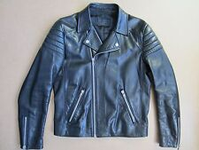 Prada Men's Black Leather Motorcycle Biker Jacket, Size IT 48 (UK M), Exc Cond