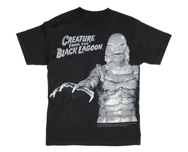 UNIVERSAL MONSTERS CREATURE FROM THE BLACK LAGOON STAND HORROR T TEE SHIRT S-2XL