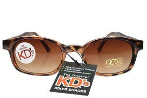 KD's Sunglasses Original Biker Shades Motorcycle Tortoise Brown 200