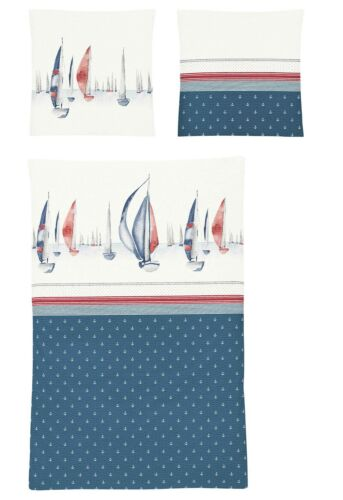 Irisette Seersucker Linge De Lit Calypso 8593-20 maritime