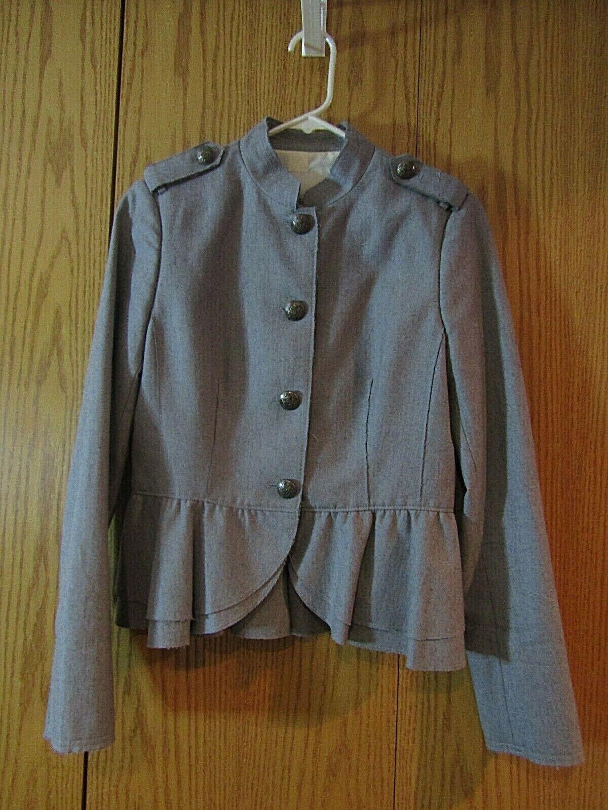 Banana Republic Women's Gray Military Style Jacket, Size 6 NWOT heritage