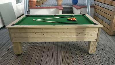 Outside Garden Rustic 7ft Slate Bed Pool Table Includes Free Delivery 332447225211 Ebay