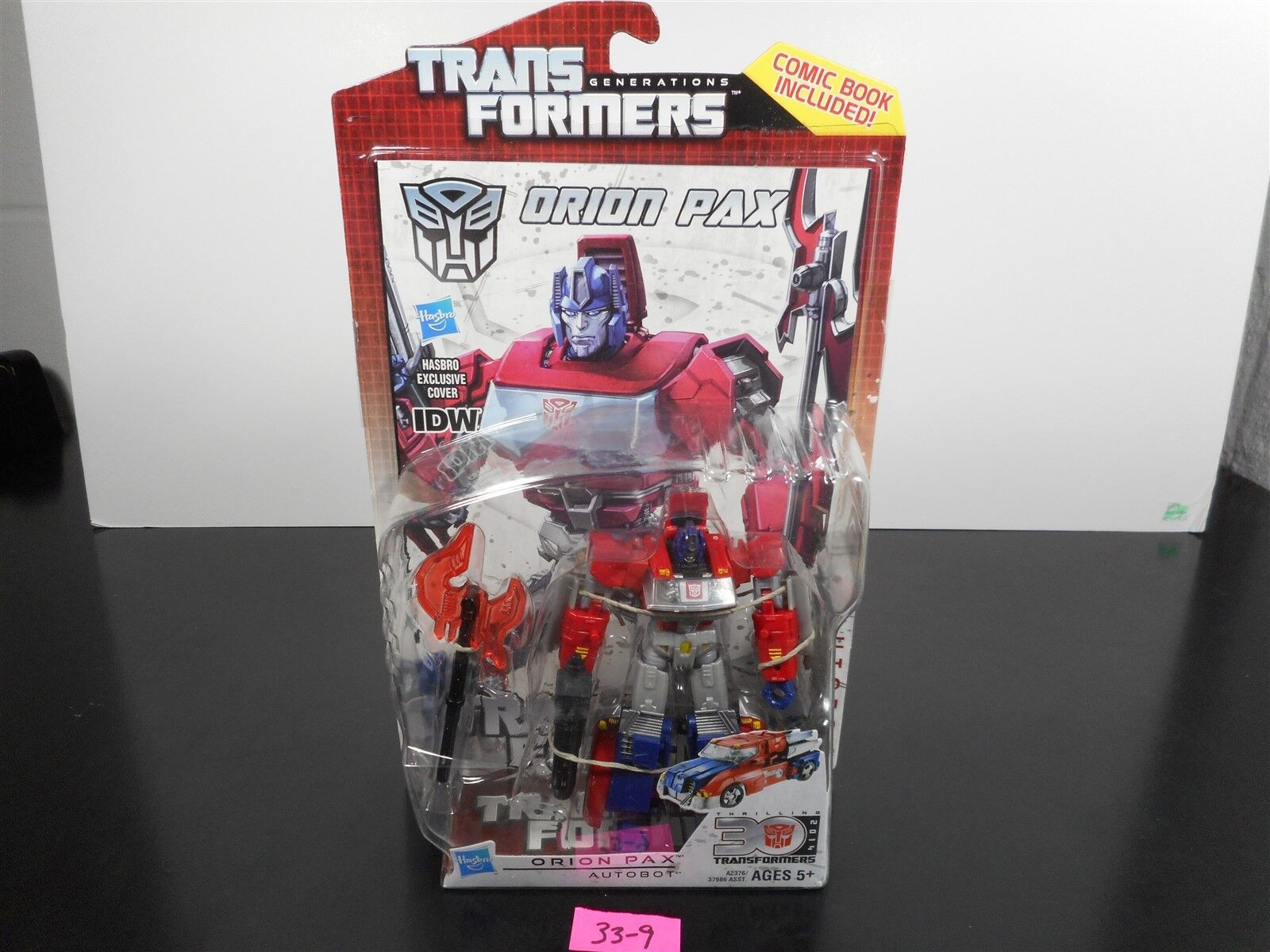 MINT & SEALED   TRANSFORMERS GENERATIONS IDW ORION PAX 30TH ANNIVERSARY MOC 33-9