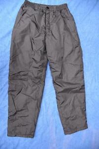 UNISEX-BLACK-Waterproof-SKI-SNOW-Snowboarding-PANTS-Size-40-034-102cm-Appear-New