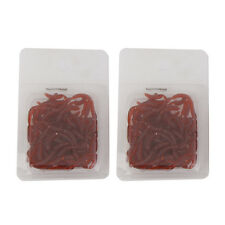 200 x Earthworm Fishing Bait Worm Lures Crankbaits Hooks Baits Tackle Red