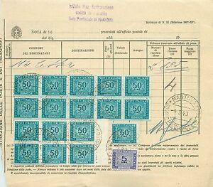 Repubblica-Blocco-10-6-pezzi-50-lire-segnatasse-ruota-su-modello-postale