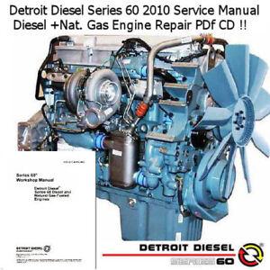 Detroit Diesel Series 60 >> Details About Detroit Diesel Series 60 2010 Service Repair Manual Workshop Pdf Cd Nice