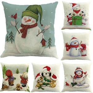 Cubierta-Cojin-cuadrado-de-Navidad-Cintura-Almohadon-Funda-Decoracion-Hogar-Casa-Sofa-Caliente