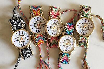 vintage fashion color bracelets Natives Knitted dreamcatcher friendship watches