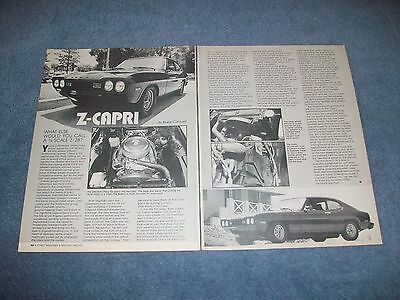 "1974 Mercury Capri Vintage Sleeper Artikel "" Z-capri "" Chevy Betrieben"