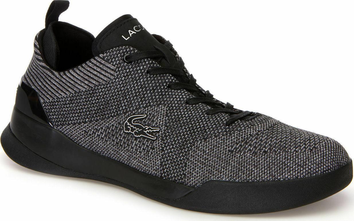 low priced fbe62 7df6b Lacoste Men s LT Dual Elite Elite Elite 318 SPM Black Sneakers shoes Casual  Walking Croc afbe71