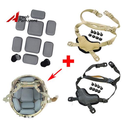 Tactical MICH ACH Casco Head-Loc Retention X-Nape con almohadillas protectoras