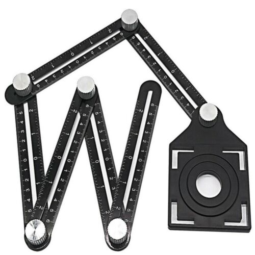 Multi-Angle Measuring Metal Aluminum Alloy Ruler 6-Sided Folding Ruler FD8