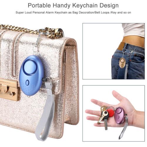 5x Personal Panic Rape Alarm Keyring Loud Sound Safe Security Attack Light 140db