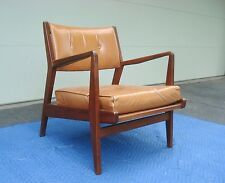 Signed Vintage Sculptural JENS RISOM Mid-Century DANISH MODERN Lounge ARM CHAIR