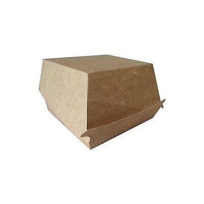 50 Lunchbox Essensbox Brotbox Foodbox Pappe pure 6,3 x 9 x 11,3 cm braun