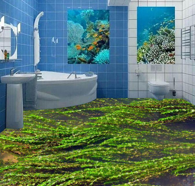 3D Grün Aquatic Plant 0 Floor WallPaper Murals Wall Print Decal 5D AJ WALLPAPER