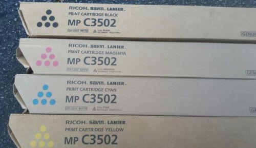 Brand New RICOH MP C3002 C3502 TONER Set CYMB 841735,36,37,38
