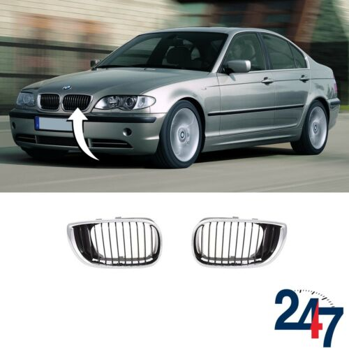 Nouvelle BMW Série 3 E46 2001-2005 Berline Touring rein Grill Paire Set GAUCHE DROIT