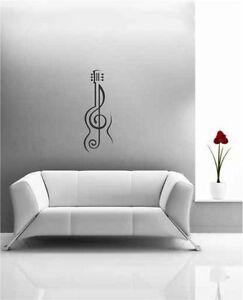 TREBLE-CLEF-GUITAR-Vinyl-Wall-Decal-SMALL-MEDIUM-LARGE-MUSIC-WALL-ART
