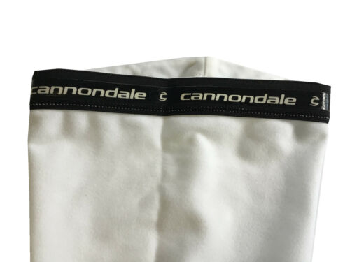 new L Cannondale knee warmers men/'s cycling white signature leg grippers cycling