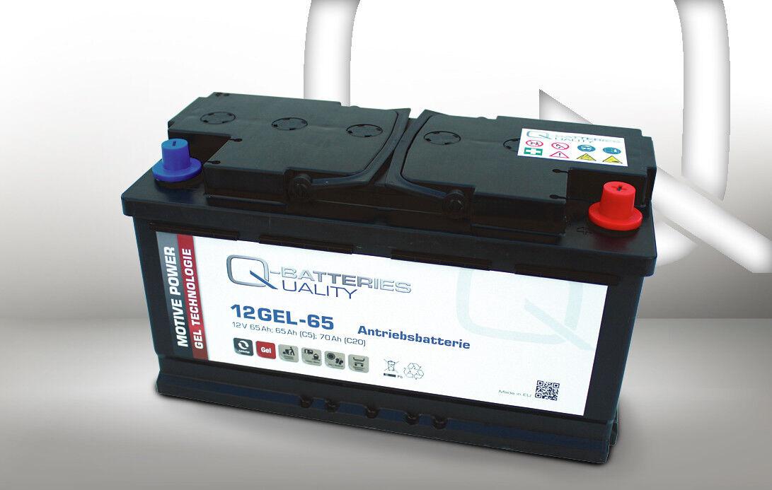 Q-Batteries 12GEL-65 Antriebsbatterie 12V 65Ah (5h) wartungsfreier Gel-Akku VRLA