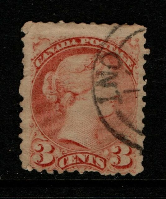 Canada 1873-79 3 cent Queen Victoria perf 11½ x 12 SG 96 Used